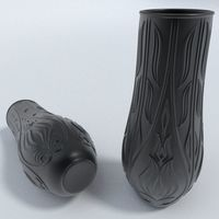 Black porcelain vase 3D Model