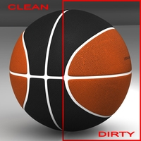Bicolor basketball ball 3D Model