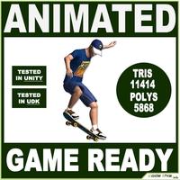 White Skater 11414 tris 3D Model