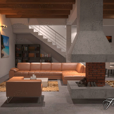 Living room 9 night 3D Model