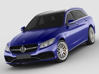Mercedes c63 AMG estate 3D Model