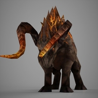 Fantasy wild buffalo 3D Model