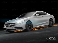 Mercedes S63 AMG Coupè 2015 3D Model
