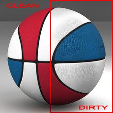 Tricolor basketball ball 3D Model