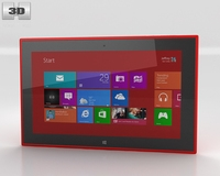 Nokia Lumia 2520 Red 3D Model