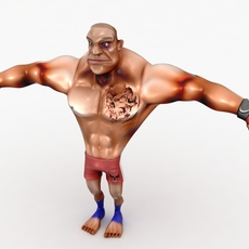 Cartoon MMA fighter 3D Model