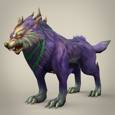 Fantasy Monster Wolf 3D Model