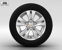 Chevrolet Cruze Wheel 17 inch 002 3D Model