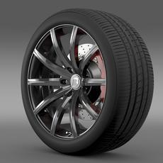 BB Audi R8  wheel 3D Model