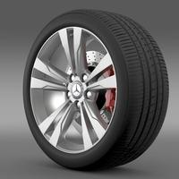 Mercedes Benz S 350 wheel 3D Model