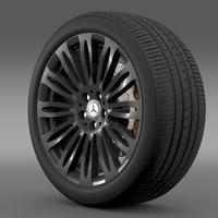 Mercedes Benz S 600 wheel 3D Model