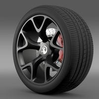 Vauxhall Insignia VRX wheel 3D Model
