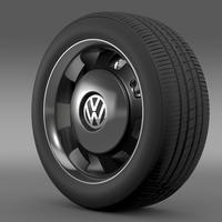 VW Beetle Classic wheel 3D Model
