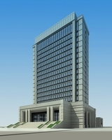 High-Rise Office Building 003 3D Model