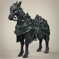 Fantasy Medieval Warrior Horse 3D Model