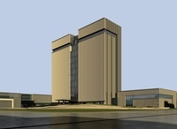 High-Rise Office Building 010 3D Model