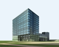 High-Rise Office Building 013 3D Model