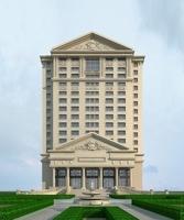 High-Rise Office Building 024 3D Model