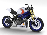 Ducati Monster Racer 796 2012 3D Model