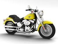 Harley-Davidson FLSTF Fat Boy 2012 3D Model