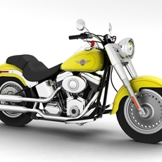 Harley-Davidson FLSTF Fat Boy 2012 3D Model