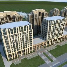 High-Rise Office Building 041 3D Model