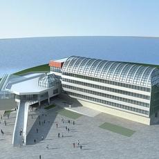 High-Rise Office Building 042 3D Model