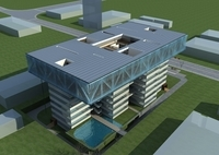 High-Rise Office Building 045 3D Model