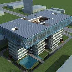 High-Rise Office Building 045 3D Model