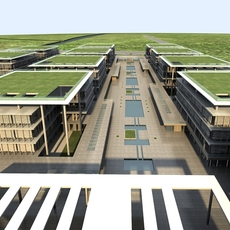 High-Rise Office Building 048 3D Model