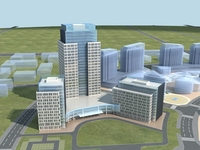 High-Rise Office Building 049 3D Model