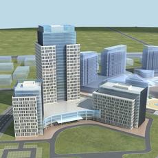 High-Rise Office Building 049 3D Model