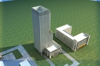 High-Rise Office Building 050 3D Model