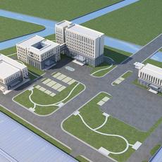 High-Rise Office Building 051 3D Model