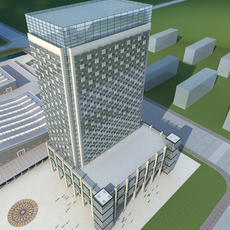 High-Rise Office Building 052 3D Model