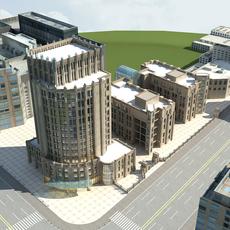 High-Rise Office Building 053 3D Model