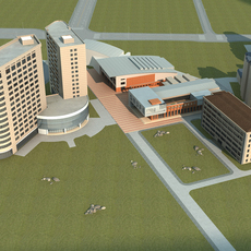 High-Rise Office Building 054 3D Model