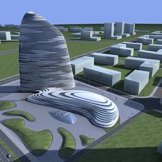 High-Rise Office Building 055 3D Model