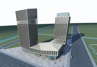 High-Rise Office Building 056 3D Model