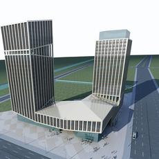 High-Rise Office Building 056 3D Model