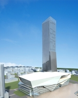 High-Rise Office Building 057 3D Model