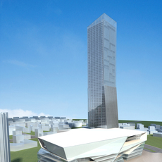 High-Rise Office Building 057 3D Model