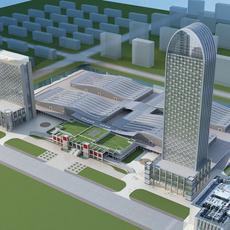 High-Rise Office Building 058 3D Model