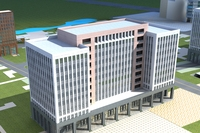High-Rise Office Building 060 3D Model
