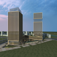 High-Rise Office Building 061 3D Model