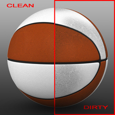 Orange-white basketball ball 3D Model