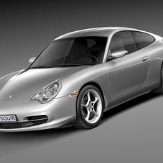 Porsche 911 996 Carrera 2003 3D Model