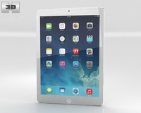 Apple iPad Air Silver WiFi 3D Model
