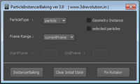 Instancer Baking 3.0.1 for Maya (maya script)