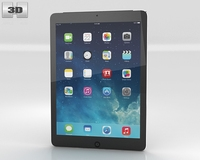 Apple iPad Air Space Gray Cellular 3D Model